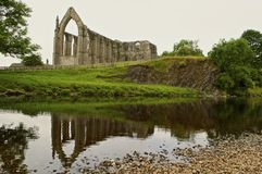 Angled view of Bolton Priory Stock Photo