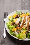 Angled view of Orange Walnut Chicken Salad Stock Photo