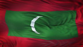 MALDIVES Realistic Waving Flag Background. Angled view of a realistic 4K flag of MALDIVES Royalty Free Stock Image
