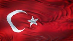 TURKEY Realistic Waving Flag Background. Angled view of a realistic 4K flag of TURKEY waving on sun royalty free illustration