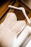 Angled wedding dress Royalty Free Stock Photos