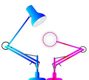 Anglepoise-Beleuchtungs-Lampen Stockfoto