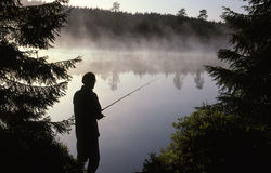 Angler. In Bærum in Norway royalty free stock images