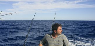 Angler big game saltwater fisher boat royalty free stock photography