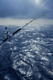 Angler boat big game fishing in saltwater Stock Photography