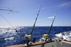 Angler boat big game fishing in saltwater Royalty Free Stock Photography