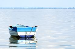 Angler boat at Lake Balaton. Hungary royalty free stock photography