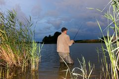 Angler royalty free stock image