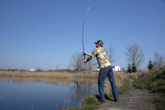 ANGLER MAN Royalty Free Stock Photos