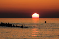 Angler On The Baltic Sea Coast Stock Image
