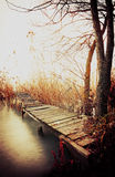Angler pier in autumn Stock Photography