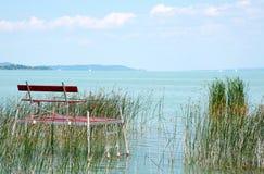 Angler pier at Lake Balaton, Hungary Stock Image