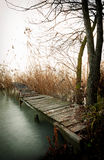 Angler pier at Lake Balaton, Hungary Royalty Free Stock Image