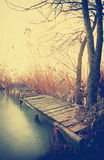 Angler pier at Lake Balaton, Hungary Stock Photos