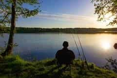 Angler stock image