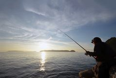Angler in the wakayama Japan. An Angler in the wakayama Japan royalty free stock photography
