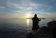 Angler in the wakayama Japan. An Angler in the wakayama Japan stock images