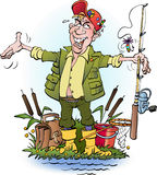 An angler who lie Stock Image