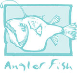 Anglerfish in Blue Royalty Free Stock Photo