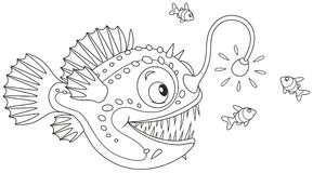 It's just a picture of Transformative Angler Fish Coloring Page
