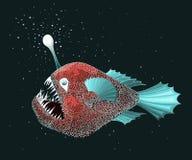 Anglerfish i färg Royaltyfri Foto