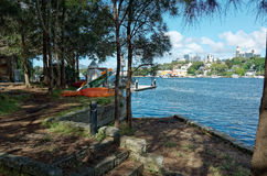 Anglers at Ballast Point Park Mort Bay Sydney Stock Photography