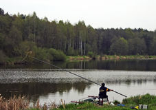 Anglers competition Royalty Free Stock Photo