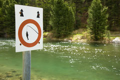 Anglers Prohibition sign Royalty Free Stock Images