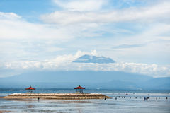 Anglers at the sanur beach Stock Photos