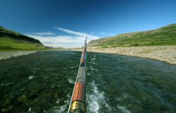 Anglers view royalty free stock photo