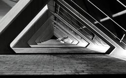 Angles noirs et blancs sur la partie de structure Photo stock