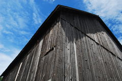 Angles of an Old Weathered Barn. A view of a weathered barn in the Sleeping Bear Dunes area of Michigan Royalty Free Stock Image
