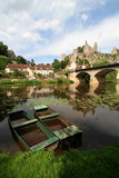 Angles-sur-Anglin. A typical french village, in the border of the river Royalty Free Stock Photography