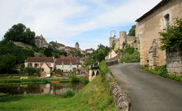 Angles-sur-Anglin. A typical french village, in the border of the river Stock Images