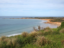 Anglesea coastline in Victoria. Looking south west from a lookout above Anglesea on the Great Ocean Road in Victoria Royalty Free Stock Photography