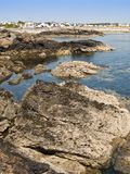 Anglesey coast rockpool Wales Stock Photo