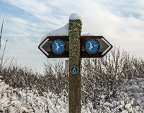 Anglesey coastal path sign Stock Photography