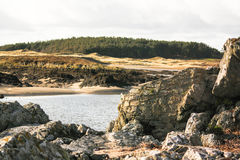 Angleseystrand Royalty-vrije Stock Foto's