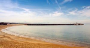Anglet海滩, plage de la barre 库存图片