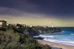 Anglet and the lighthouse Stock Image