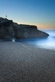 Anglet's beach getting dark, France Royalty Free Stock Image