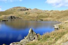 角度小湖和Angletarn矛,湖区。 图库摄影