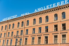 The Angleterre Hotel, Saint Petersburg Stock Image