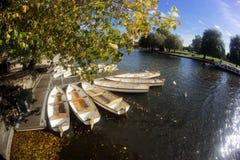 Anglia Avon Wioślarskie łodzie zdjęcia royalty free