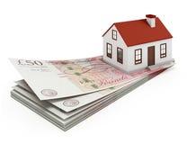 Anglia domu hipoteka Obraz Stock