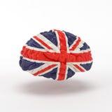 Anglia flaga na ludzkim mózg Obrazy Stock