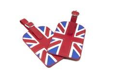 Anglia flaga stylu bagażu etykietka Zdjęcia Royalty Free