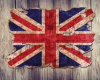 Anglia flaga w formie poszarpany rocznika papier zdjęcie stock