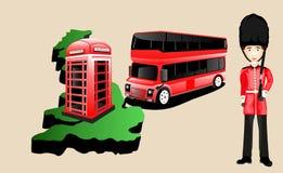 Anglia kraju wektorowi elementy ustawiający Zdjęcia Royalty Free