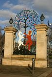 Anglia, Londyn, Hyde park, brama, królowej Elizabeth bramy Fotografia Royalty Free